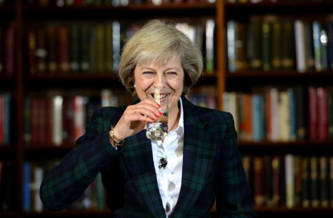 Image result for Theresa May smug