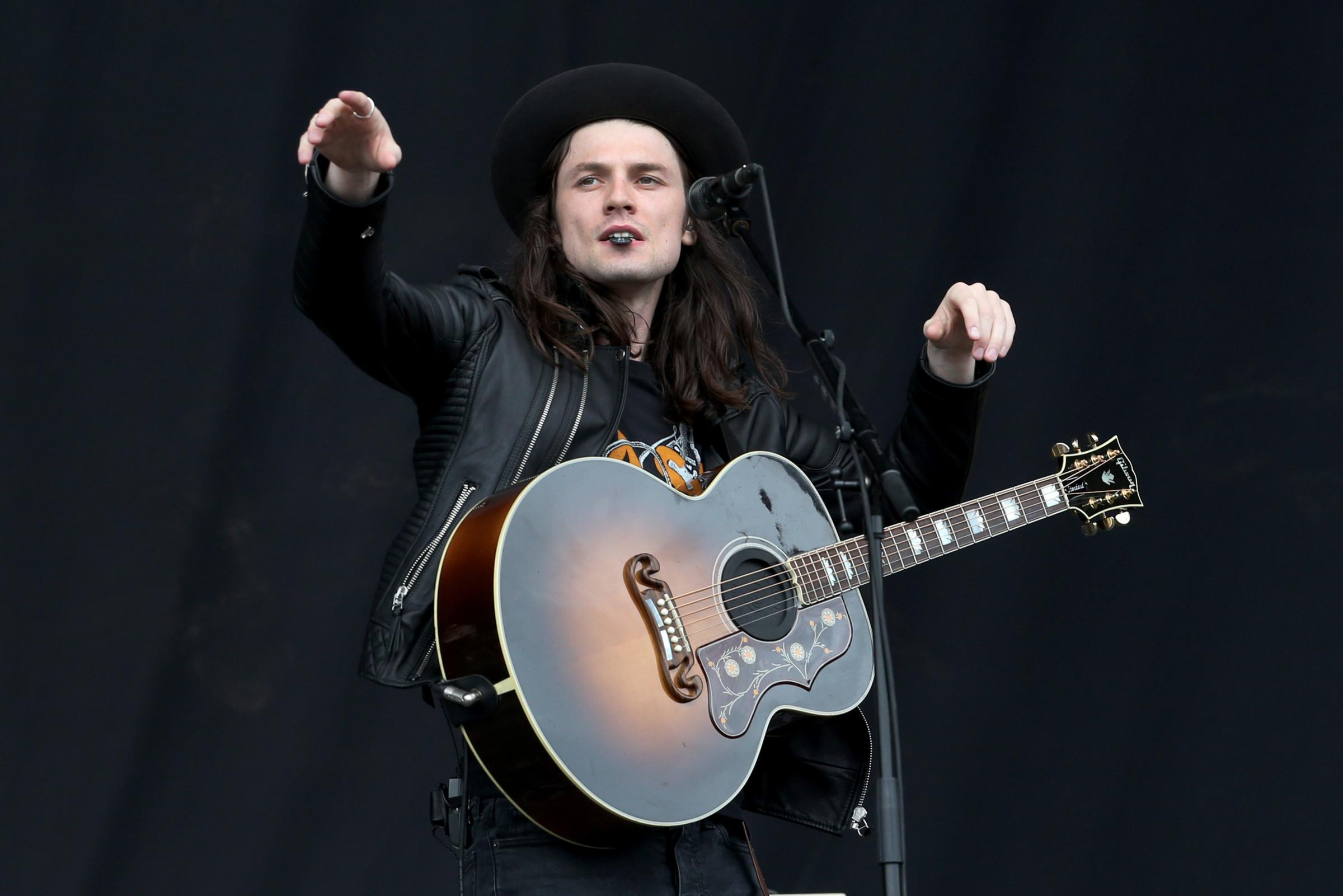 James Bay on the main stage during the third day of T in the Park, the annual music festival held at Strathallan Castle, Perthshire. PRESS ASSOCIATION Photo. Picture date: Sunday July 10, 2016. Photo credit should read: Jane Barlow/PA Wire.