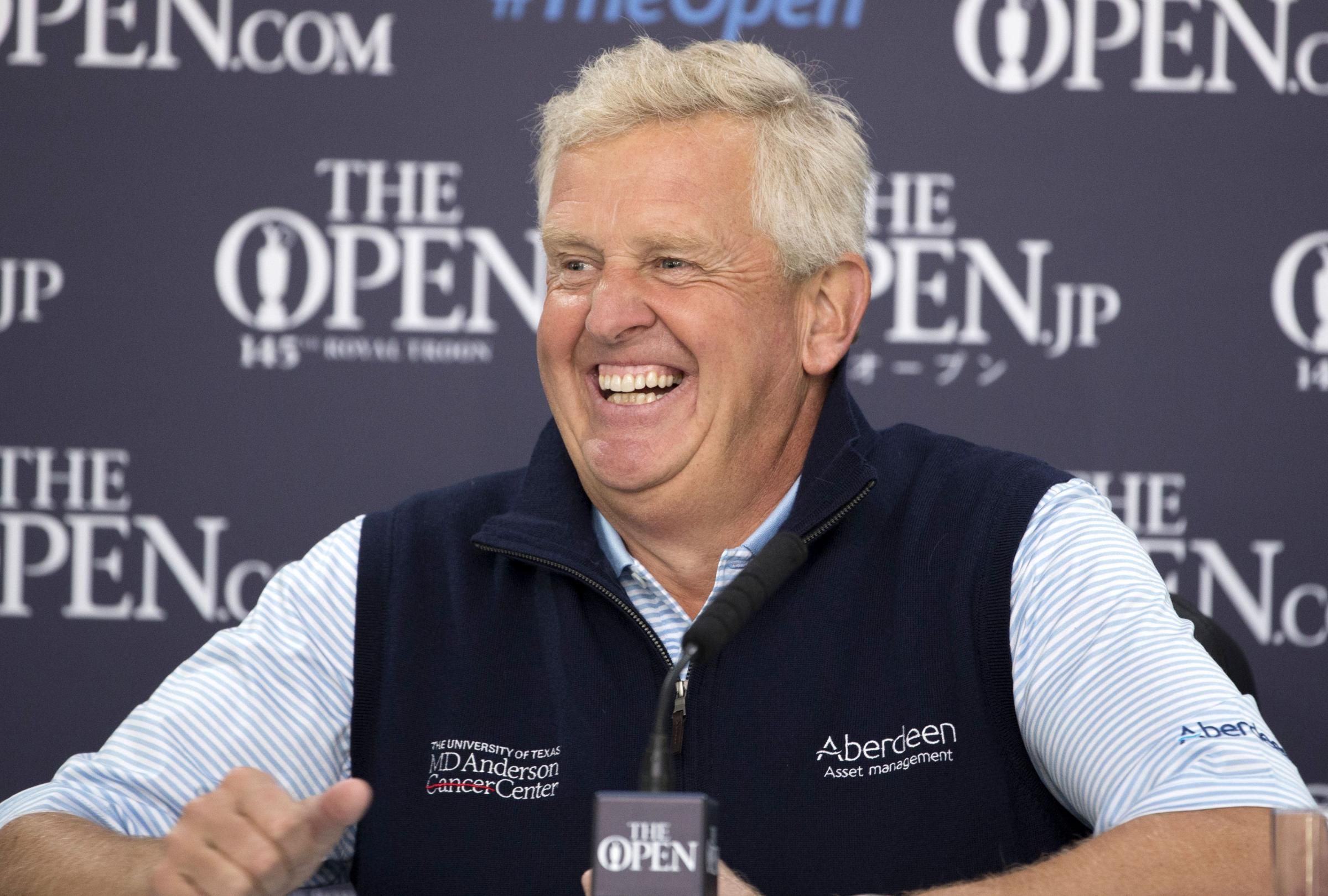 All smiles: Colin Montgomerie was in fine form ahead of this week's Open Championship (Picture: SNS)