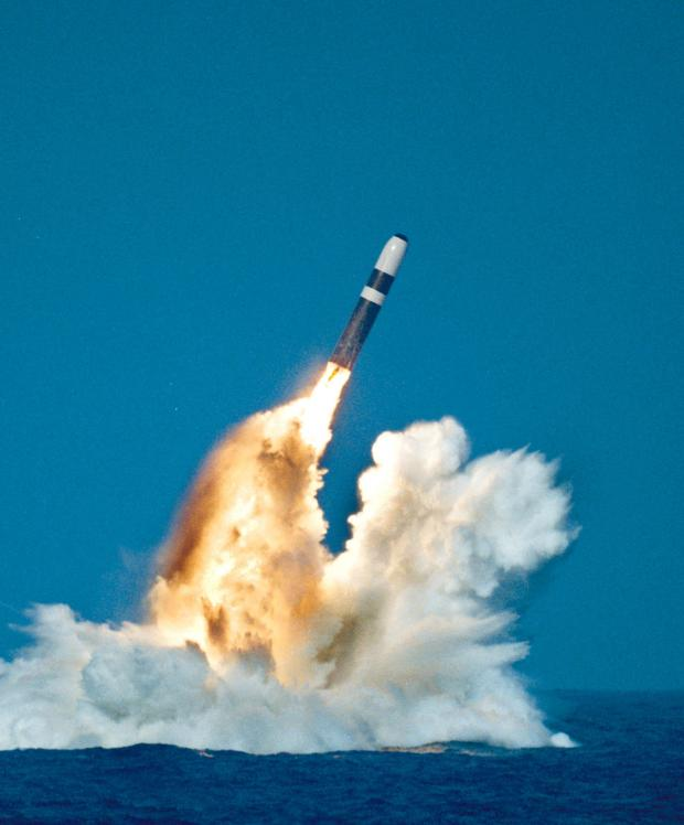 HeraldScotland: A Trident Ii, Or D-5 Missile, being launched