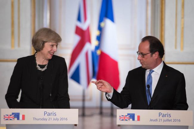 Entente hostile? Hollande tells May to speed up Brexit and that no freedom of movement means no membership of single market