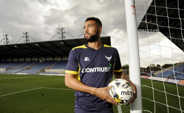 HeraldScotland: Kane Hemmings, who was the second highest scorer in the Scottish Premier League last season, seeks to make a big impression at Oxford United after signing a three-year-deal Picture: David Fleming
