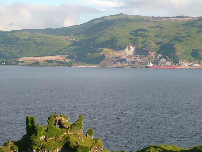 The super-quarry at Glensanda on the shore of Loch Linnhe, on the Morvern peninsula, is operated by Aggregate Industries, owned by LafargeHolcim, based in Switzerland