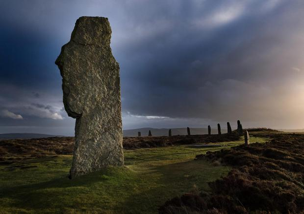 HeraldScotland: Picture of The Ring of Brodgar, Mainland Orkney...I hope you will consider this picture for The Big Picture Feature in your newspaper..The picture was taken in December 2013 , mid afternoon..The Orkney Islands are a great location for Photography, with ma