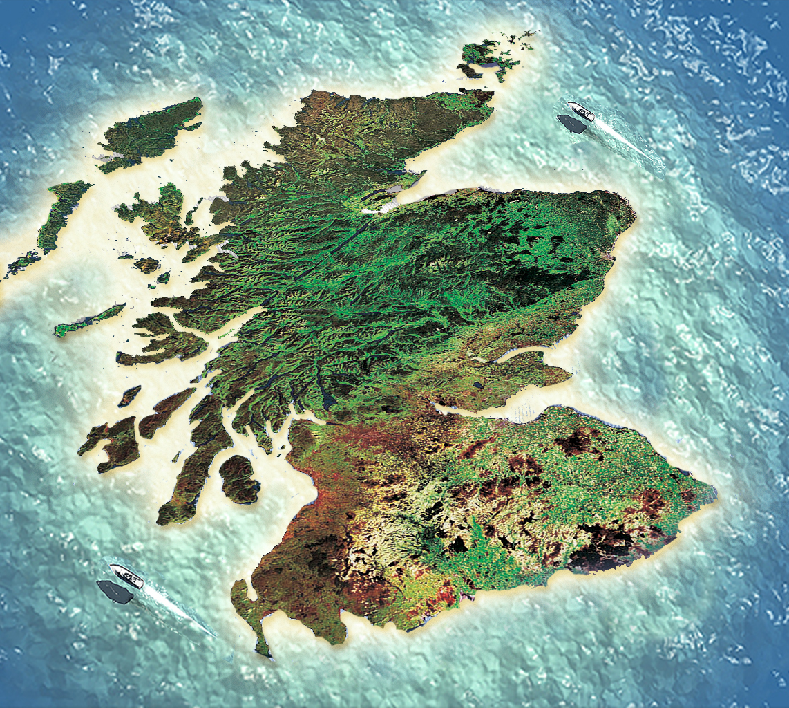 Scotland, re-imagined as a tropical tax haven island