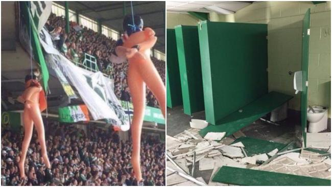'Mock execution' effigies at Old Firm game were
