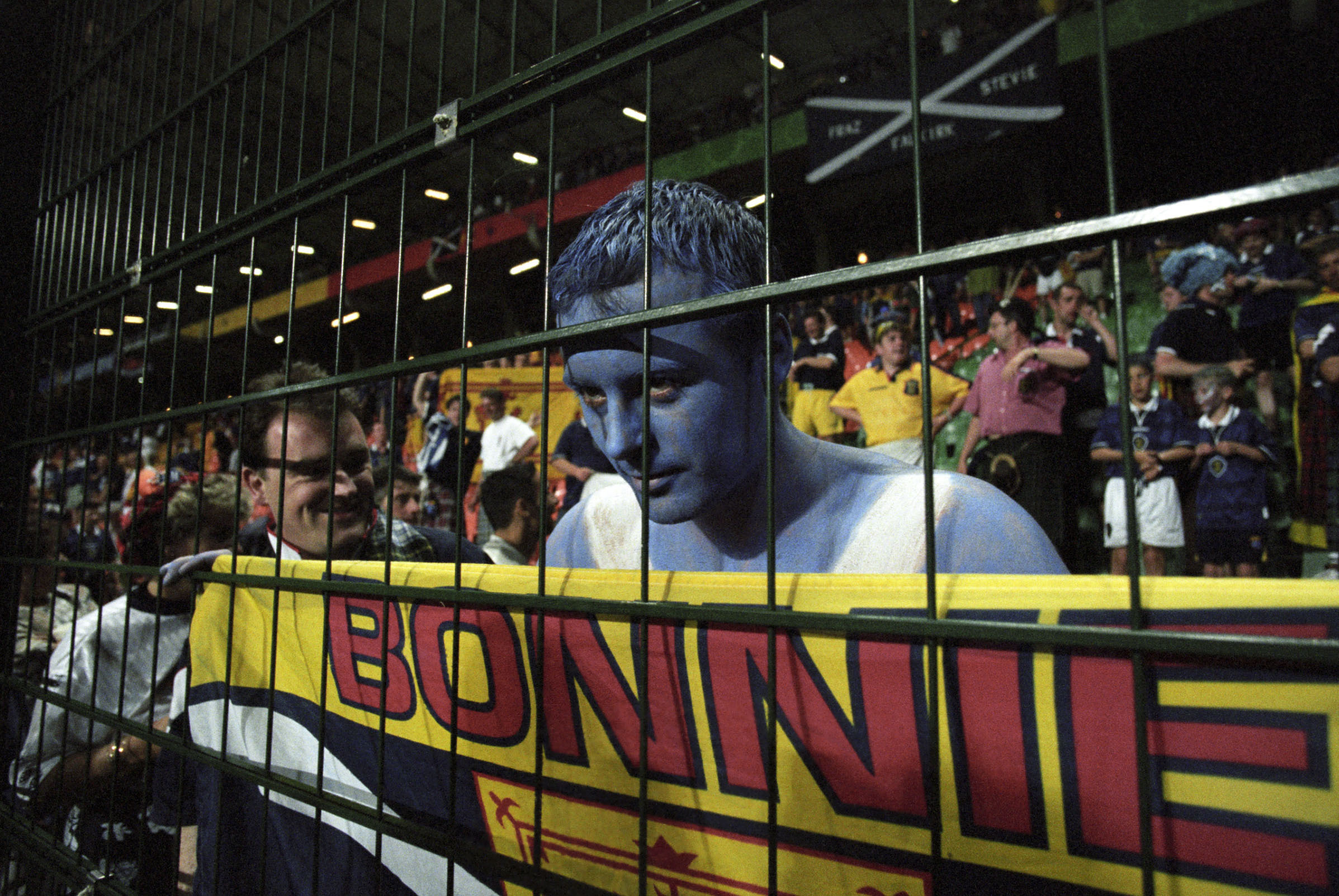 A Scotland fan at the 1998 World Cup.