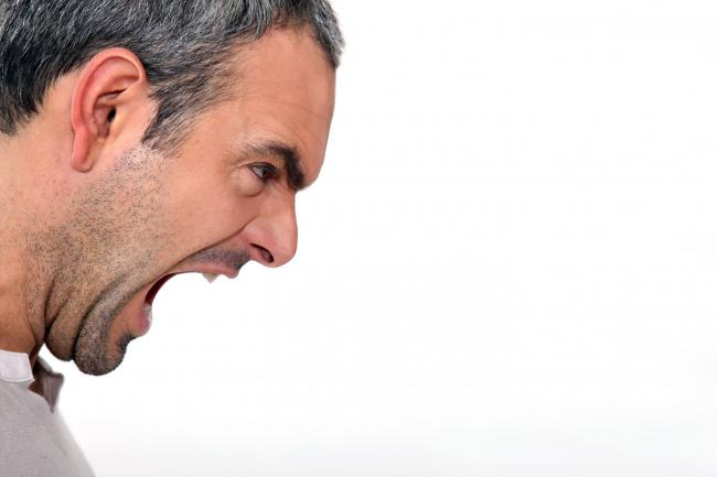 An angry man yelling; Shutterstock ID 90908768; PO: 180916; Job: essay; Client: sunday herald