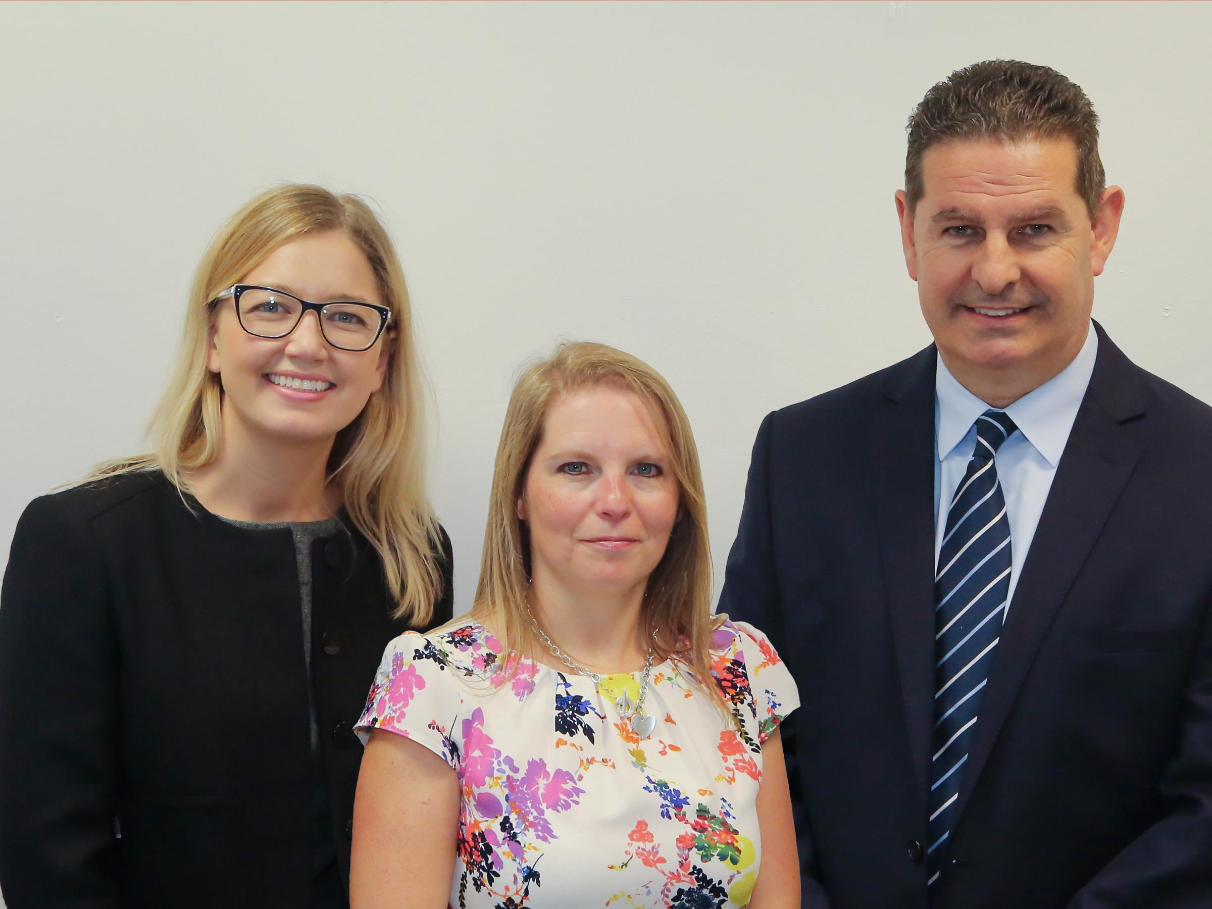 L-R: Alex Ford, VP Marketing and Operations, Encompass Corporation; Kerry Sharp, Head of Scottish Investment Bank; Roger Carson, Co-Founder & Global Financial Sales Director, Encompass Corporation