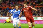St Johnstone's Steven MacLean battles with Ash Taylor and wasn't happy with the Aberdeen players' antics post-match