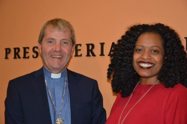HeraldScotland: Rt Rev Dr Russell Barr is in the USA and is pictured here with Rev. Denise Anderson, one of the two Co-Moderators of Presbyterian Church of the USA