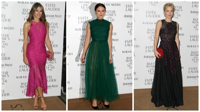 Keira Knightley glows in green alongside Elizabeth Hurley and Gillian Anderson at Women of the Year Awards