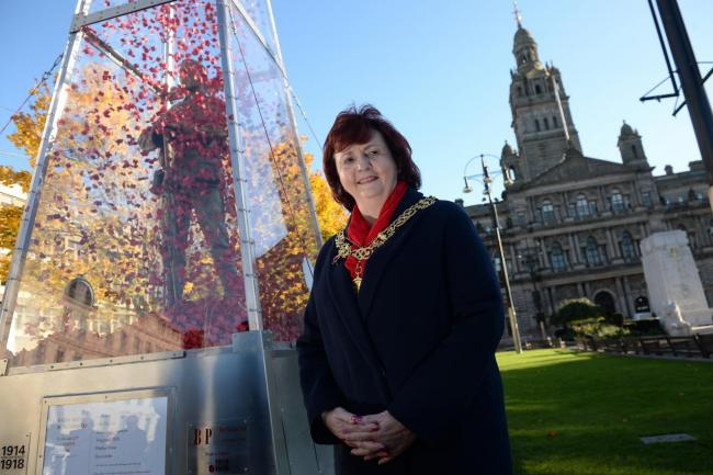 The Every Man Remembered statue unveiled by Glasgow Lord Provost Sadie Docherty in the city's George Square. Photo: Kirsty Anderson