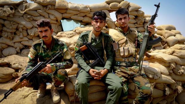 Herald Scotland: Yusef Aziz, Assim Ahem and Ahmed Mehsim Photograph: David Pratt Eyewitness report: The long and bloody road to Mosul 5651210