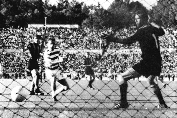 HeraldScotland: The trip that never was: Stevie Chalmers scores the winning goal for Celtic in the 1967 European Cup final against Inter Milan