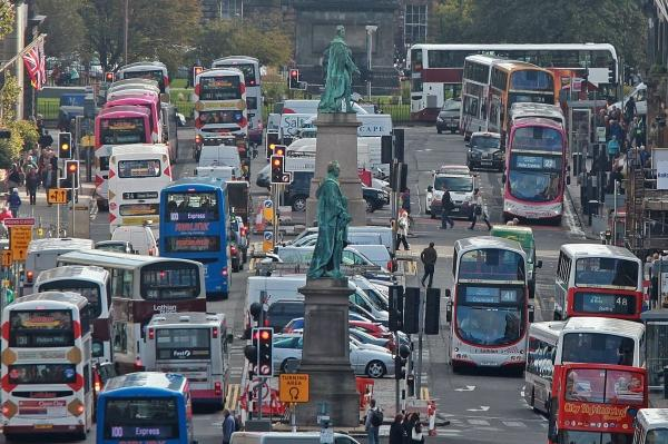 Edinburgh named UK 'capital of congestion' as drivers spend over a week stuck in traffic