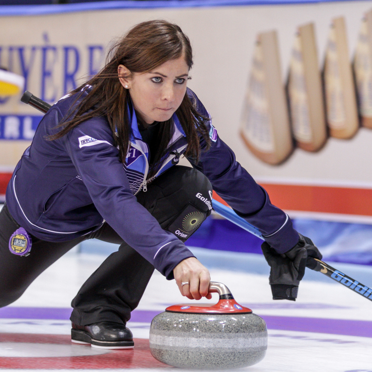 Eve Muirhead in action at the European Championships where she and her team have been in dominant form (IIpic courtesy of WCF/Jeffrey Au)