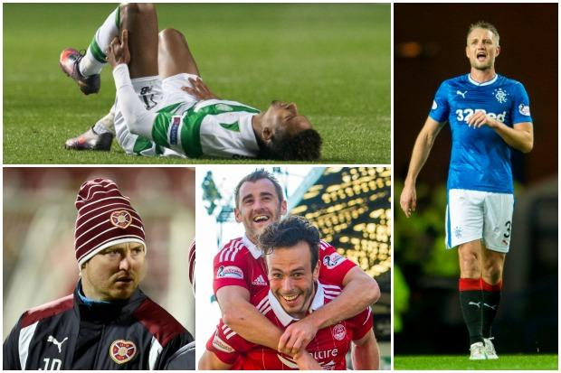 Sinclair is out , Hill returns, Aberdeen are at full strength and Daly takes to the Hearts bench