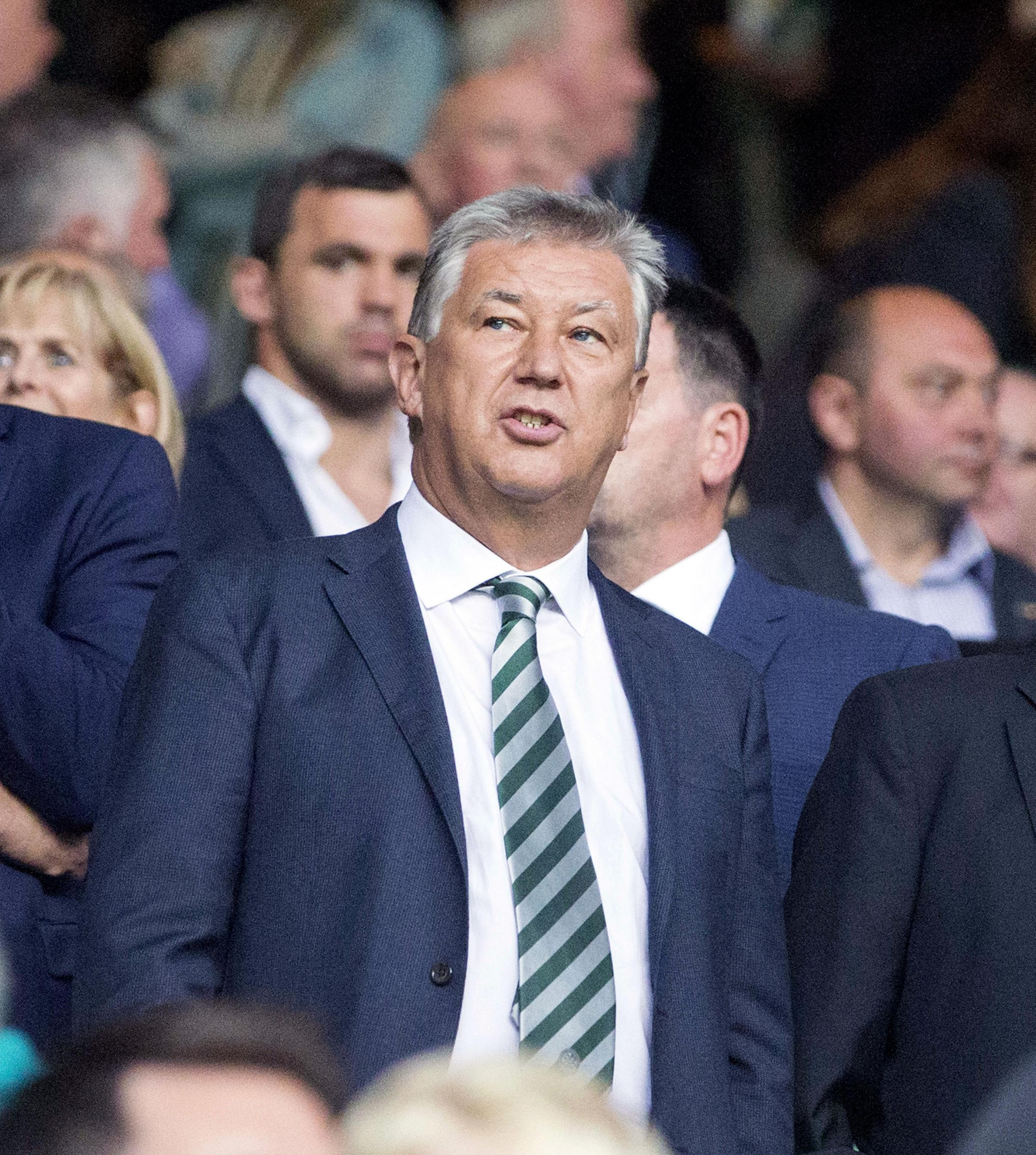 Peter Lawwell, the Celtic chief executive, believes Celtic deserve to be the dominant team in Scotland. Photo credit should read Jeff Holmes/PA Wire.