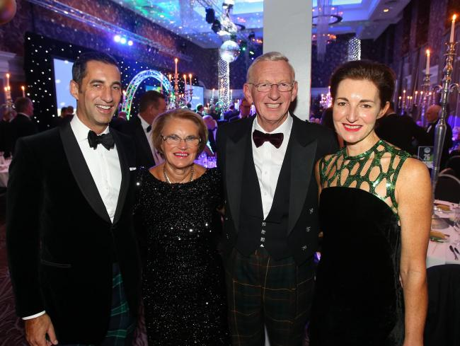 The Graham family celebrate at the Herald Scottish Family Business Awards 2016
