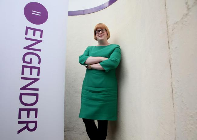 Executive Director of Engender Emma Ritch at her Edinburgh offices.Pic Gordon Terris/The Herald.29/4/15.