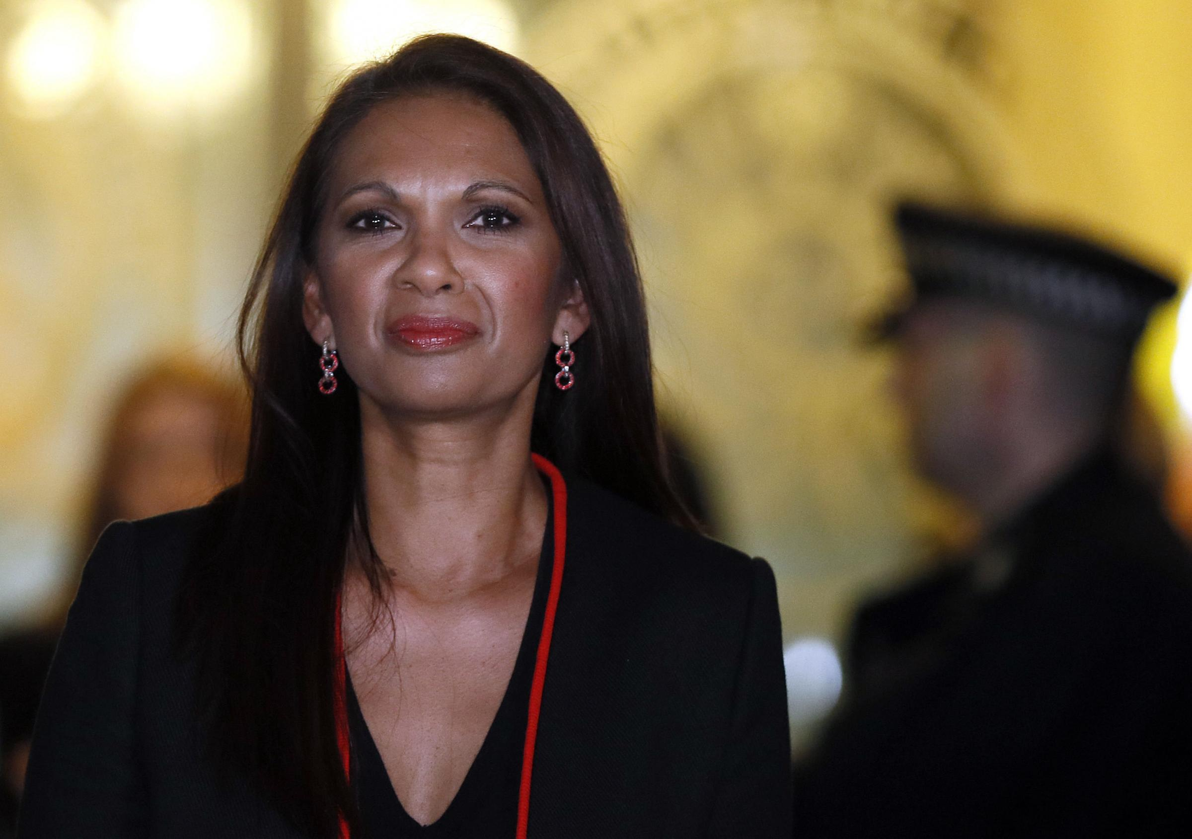 Gina Miller, who won a High Court ruling forcing the British government to seek Parliamentary approval before leaving the European Union, leaves after the fourth day of legal argument at The Supreme Court in London, Thursday, Dec. 8, 2016.