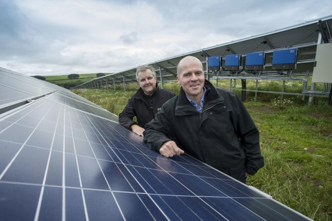 Mac Mackie, right, with Andrew McGown, director and head of solar at Absolute.