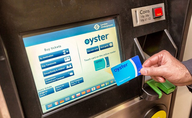 Britain is heading towards a cash-less society, as London's Oyster card shows.