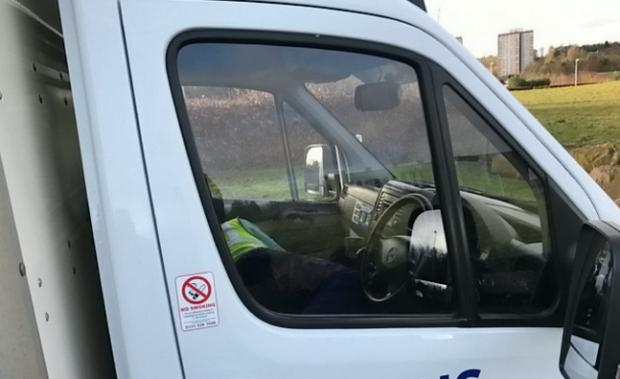NHS delivery driver caught sleeping on the job in Edinburgh ...