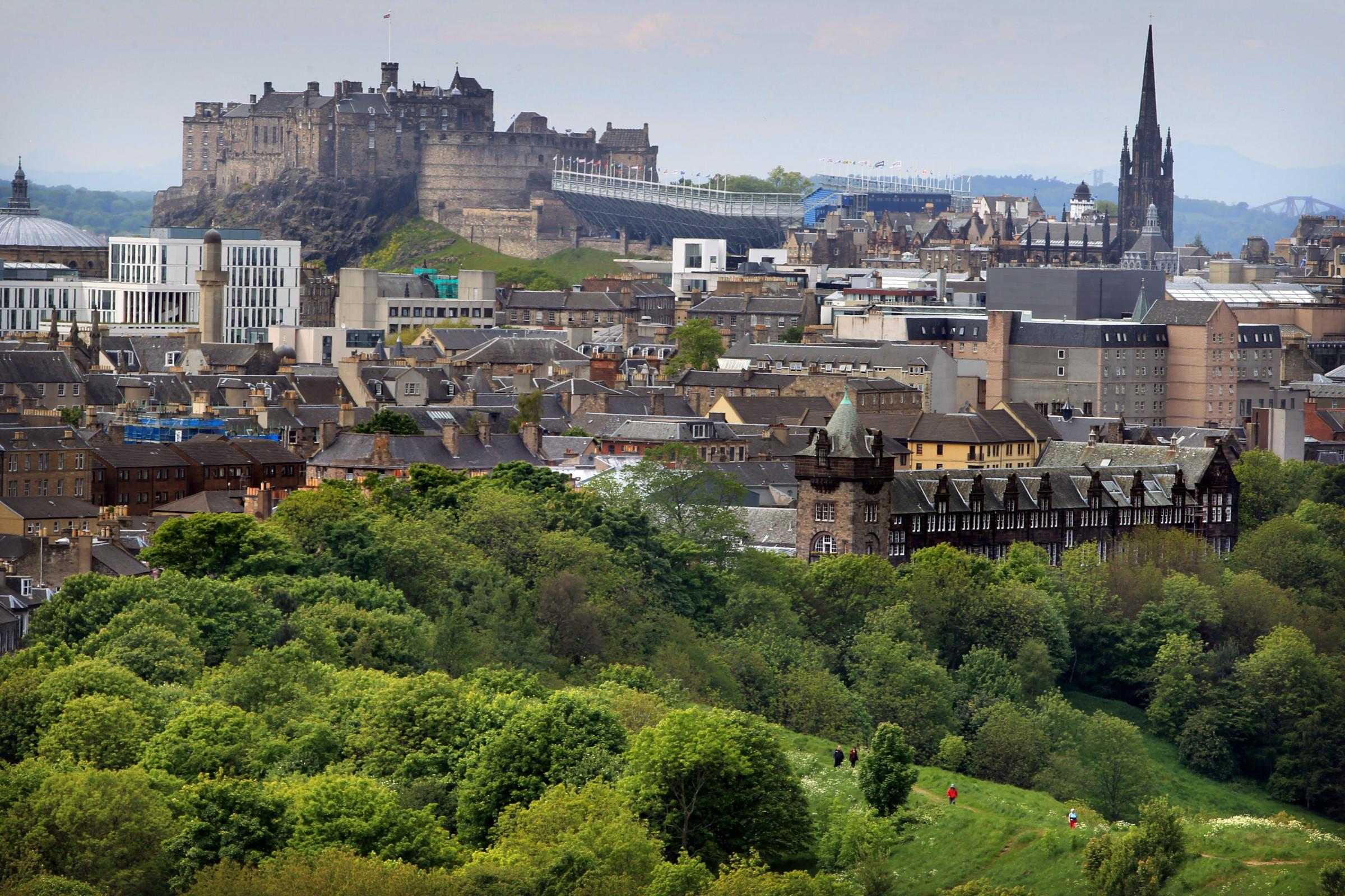 A view of Edinburgh Castle from Arthur's Seat. Picture: Stewart Attwood.