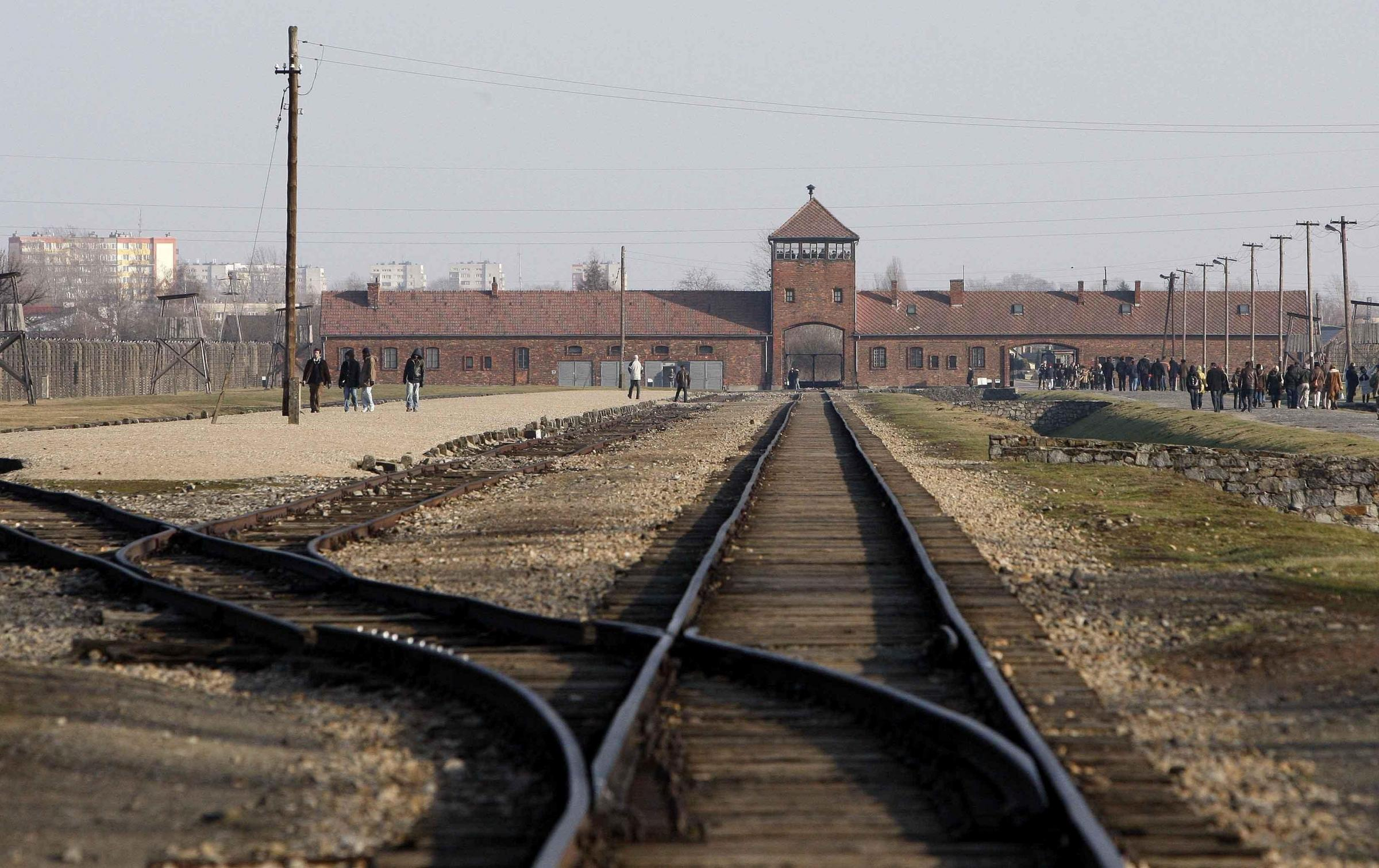 The Auschwitz concentration camp in Poland
