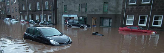 Climate change is increasing the risk of flooding in Scotland