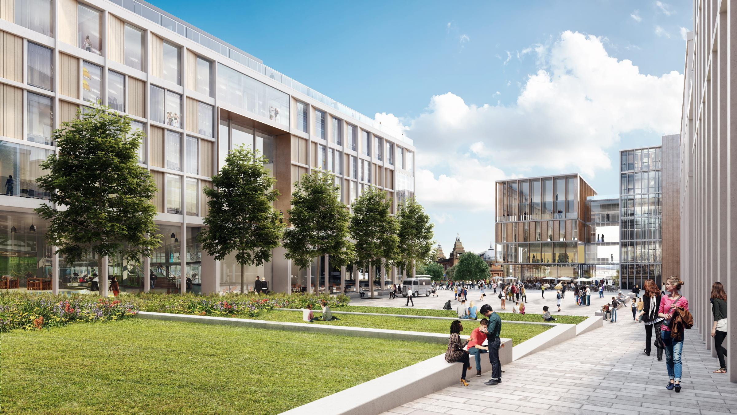 Artist's impression of the Glasgow University campus revamp