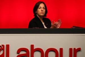 Scottish Labour leader Kezia Dugdale at her party's conference in Perth. Photo: Andrew Milligan/PA Wire.