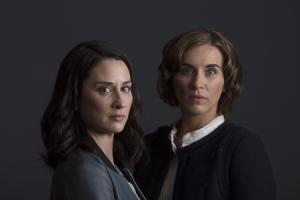 Morven Christie and Vicky McClure in BBC psychological thriller The Replacement. Picture: Mark Mainz/Left Bank Pictures/BBC