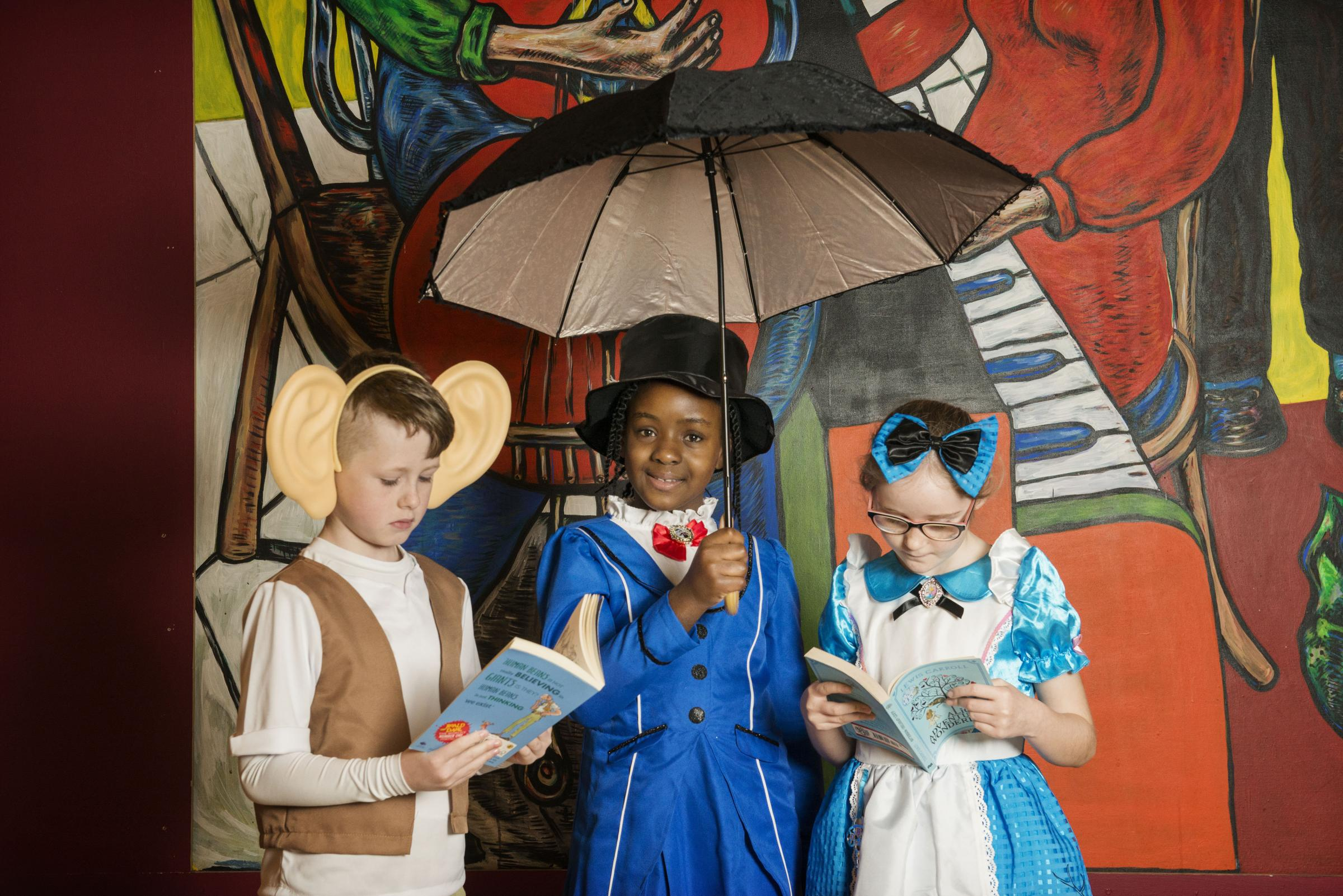 School pupils from Saint Rose of Lima take part in the Biggest Book Show on Earth at the Glasgow Royal Concert Hall. 27/02/2017.The Biggest Book Show on Earth is organised by World Book Day UK as part of the annual celebration of books and reading. This y