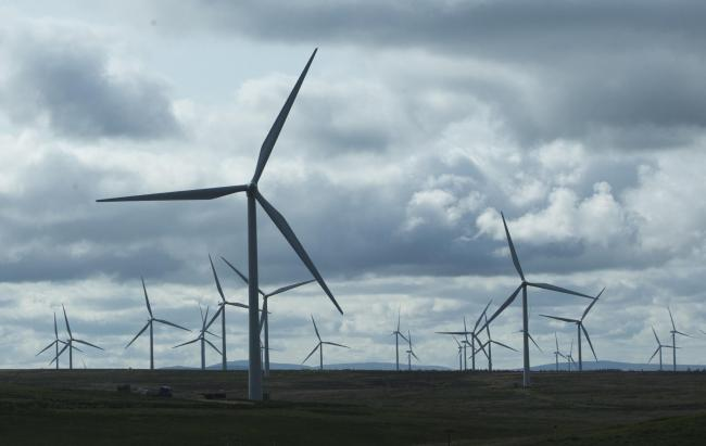 Wind turbine energy covered two-thirds of Scotland's electricity consumption