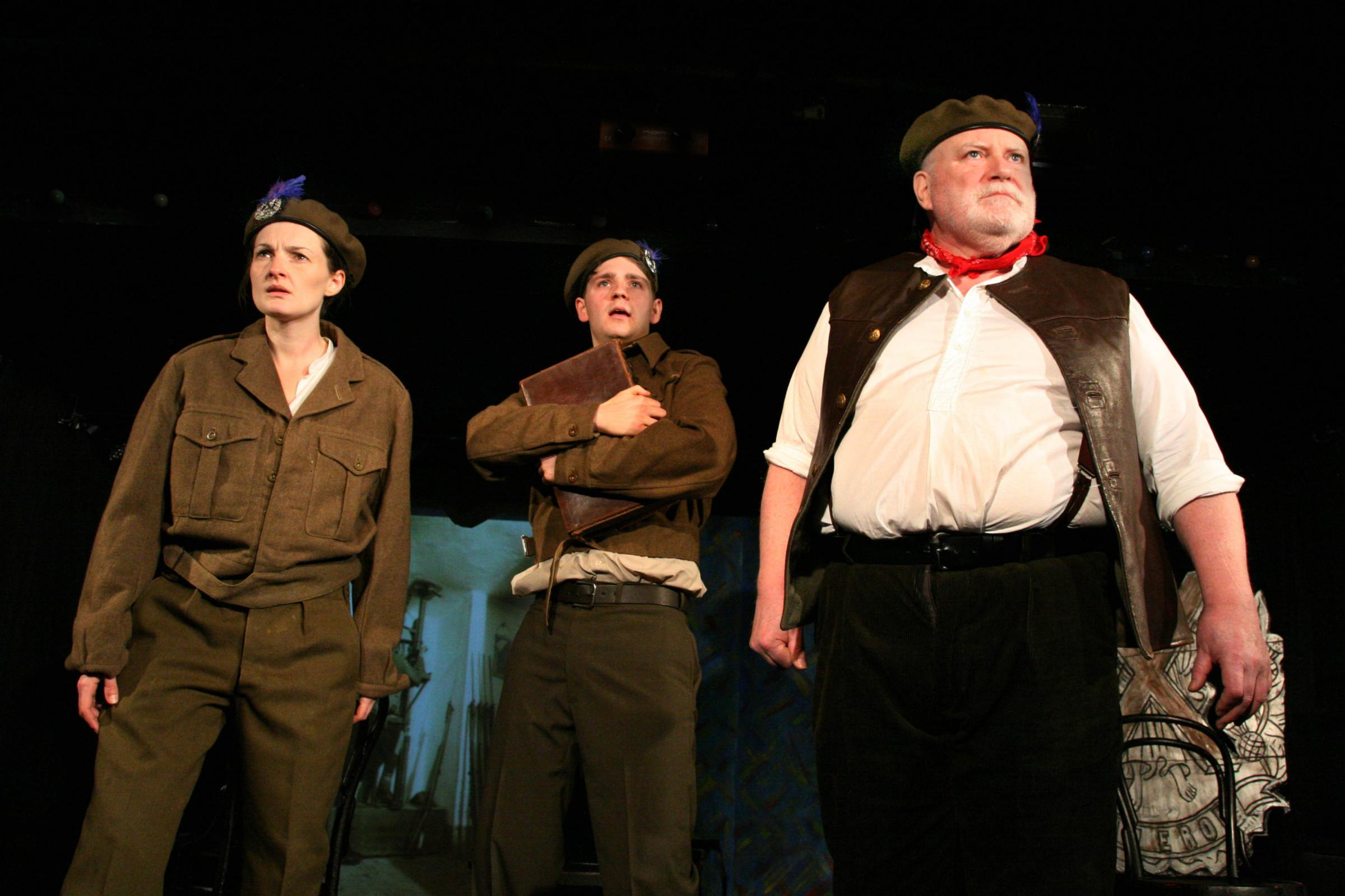 Oran Mor Anna Saxberg, James  Rottger, Ron Donachie in The Beaches of Valery, written and directed by Stuart Hepburn.