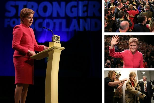 Nicola Sturgeon at the SNP Spring Conference in Aberdeen (Credit:  Andrew Milligan/PA Wire)
