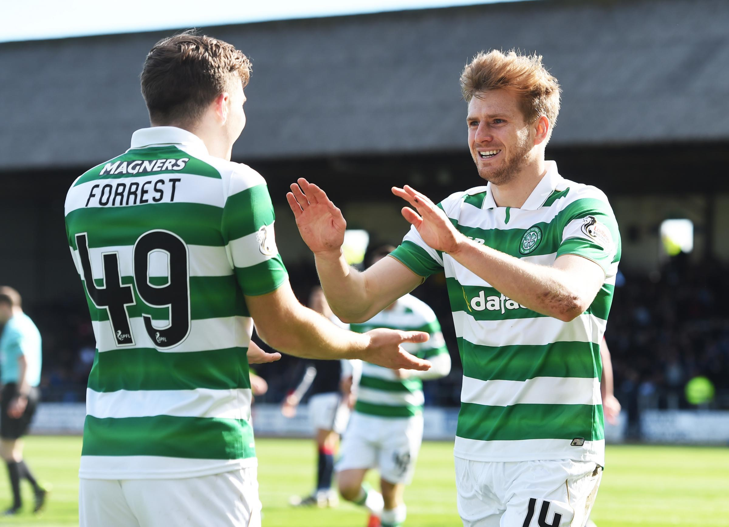 Dundee 1 Celtic 2; Narrow triumph takes Brendan Rodgers's side to brink of sixth consecutive Scottish title