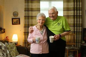 FINDING HELP: Alec Nixon and his wife Irene, who has mild dementia, are combating isolation by visiting a day centre in Knightswood.