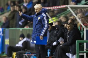 Scotland manager Gordon Strachan during the friendly with Canada at Easter Road.