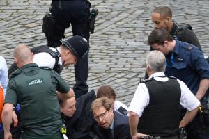 Hero MP: Tobias Ellwood rushed to resuscitate the dying police officer following Westminster attack
