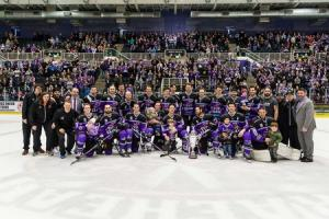 Braehead Clan defeat Dundee Stars 4-1 at Braehead Arena and clinch the 2016-17 Gardiner Conference  title on ,25 February 2017, Picture: Al Goold (www.algooldphoto.com)