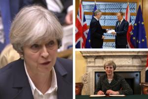 'No turning back' as PM Theresa May triggers Brexit in 'historic moment'