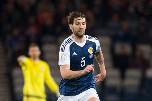 Scotland defender Charlie Mulgrew a doubt for England clash after sustaining ankle injury