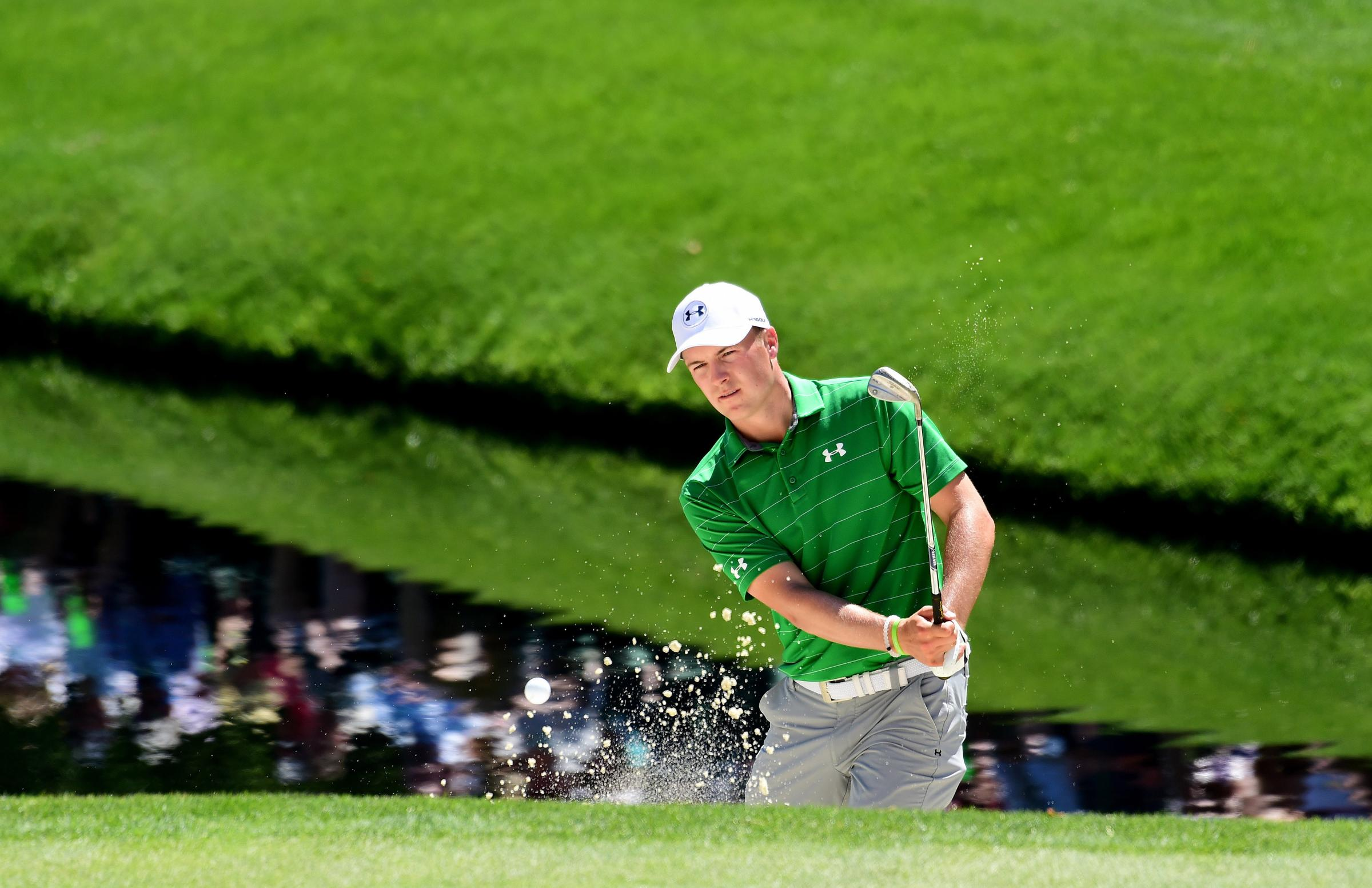 Bunker mentality: Jordan Spieth is keen to make up for last year's Masters woe (Picture: Getty Images)