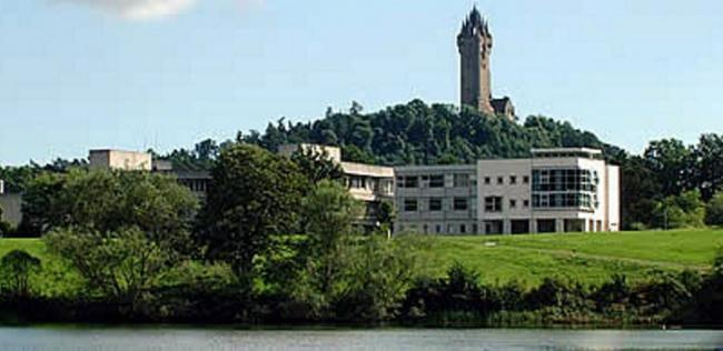 Stirling University campus and the National Wallace Monument.