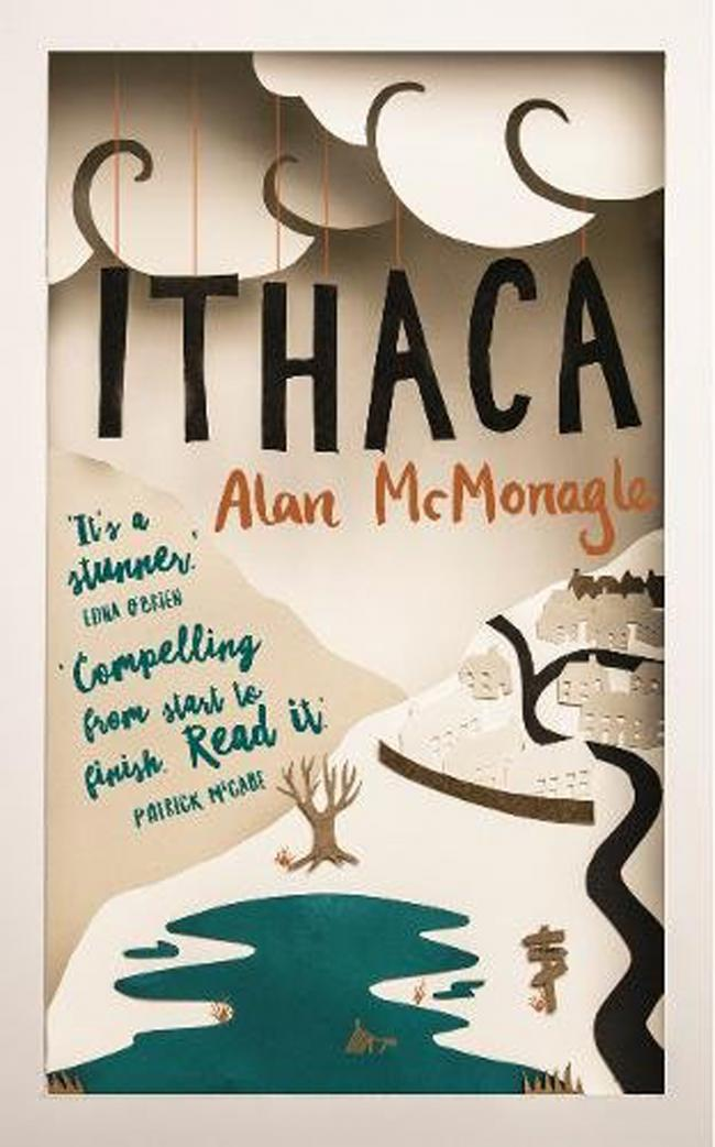 Book cover of Ithaca by Alan McMonagle.
