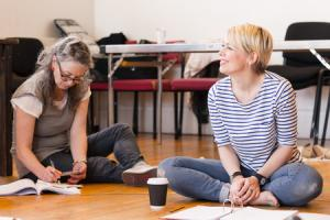 Scottish theatre Cora Bissett in rehearsals for the National Theatre of Scotland production of Room